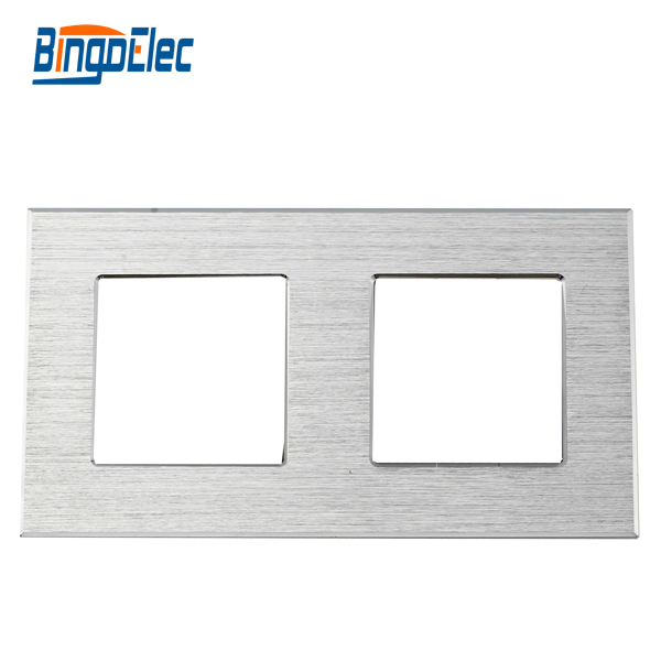 Three color to choose double aluminum socket frame,to pair with socket parts ,Three color to choose double aluminum socket frame,to pair with socket parts ,