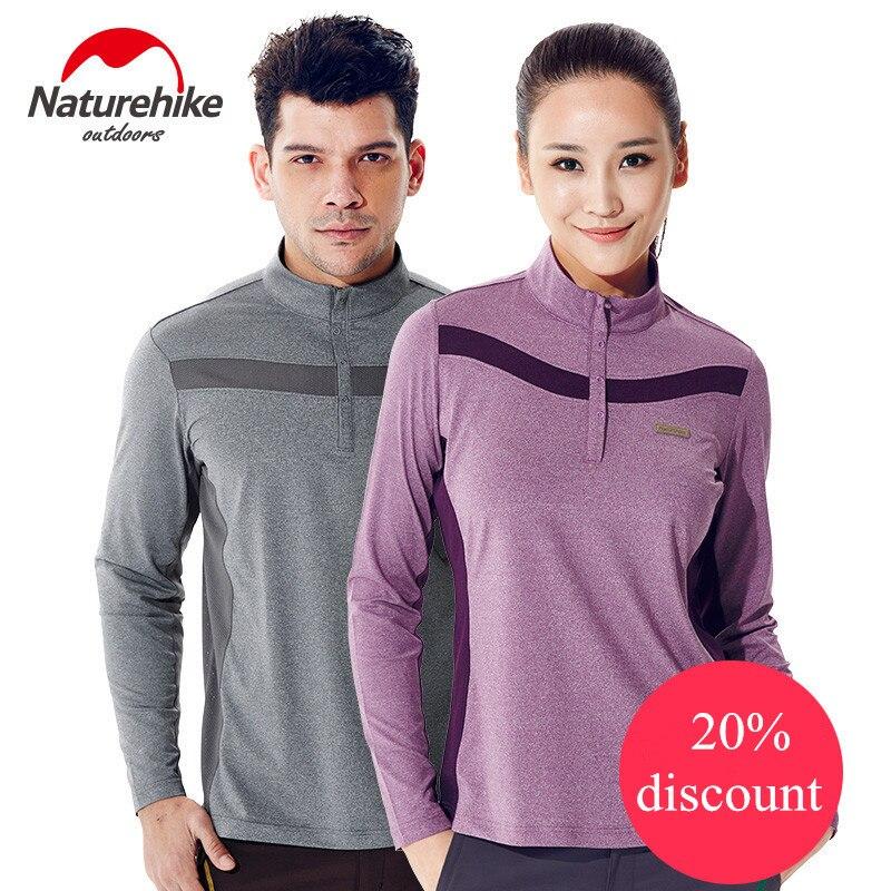 Naturehike T shirt Outdoor camping hiking men quick dry breathable soft polar fleece long shirt polester soft comfortable