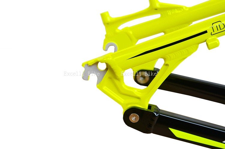 7005 Aluminum Alloy Cycling Frame Soft-tail Frame Full Suspension Downhill Mountain Bike26 27.5 Frame For Disc Oil Brake for 21 speeds21