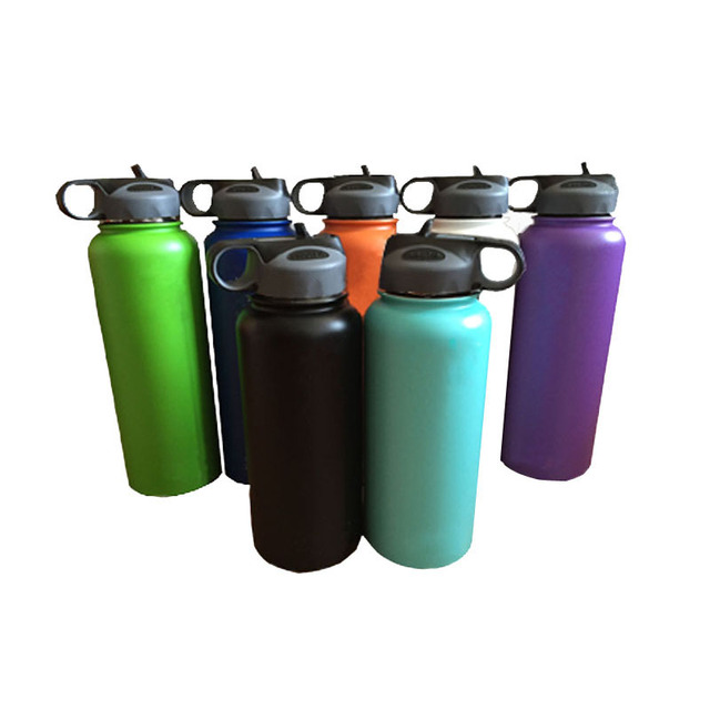 9523b71ca9 Hydro Flask 18oz/32oz/40oz Vacuum Insulated Stainless Steel Water Bottle  Wide Mouth with Sport/Straw/Spout lid