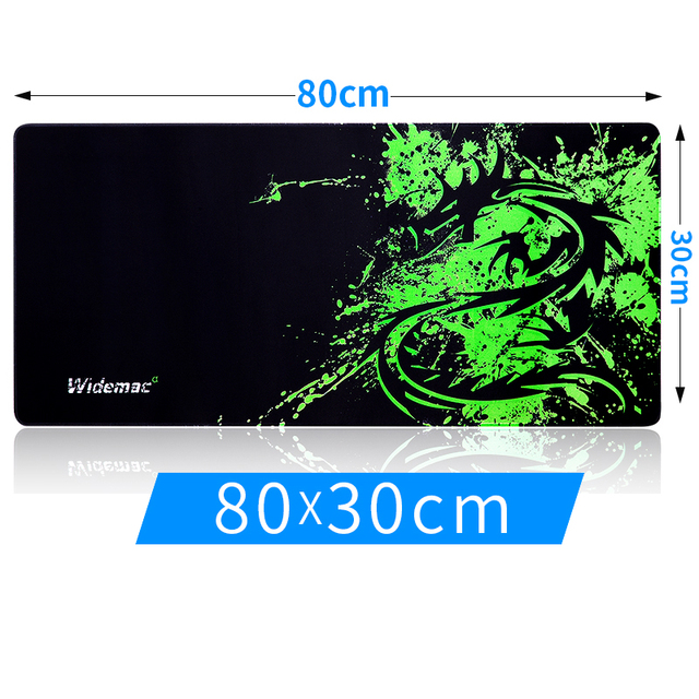 800x300mm Large Size Green Dragon Locking Edge Mousepad Non Slip Computer Gaming Mouse Pad Desk