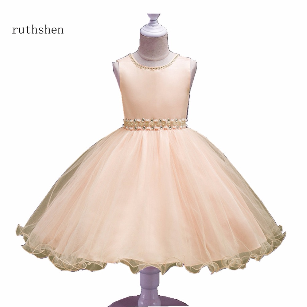 Ruthshen Princess Redpinkchampagnepurple Flower Girl Dresses With