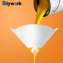 DIYWORK 10 шт./компл. автомобиля Краски часть Краски Воронка инструмент Бумага фильтры очистки краски промышленное покрытие фильтрационный конический сетчатый фильтр