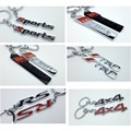 New Keyring Keychain Alloy Key Ring For Ford Benz Toyota TRD AUDI S-line S-sport 4x4 4WD RS