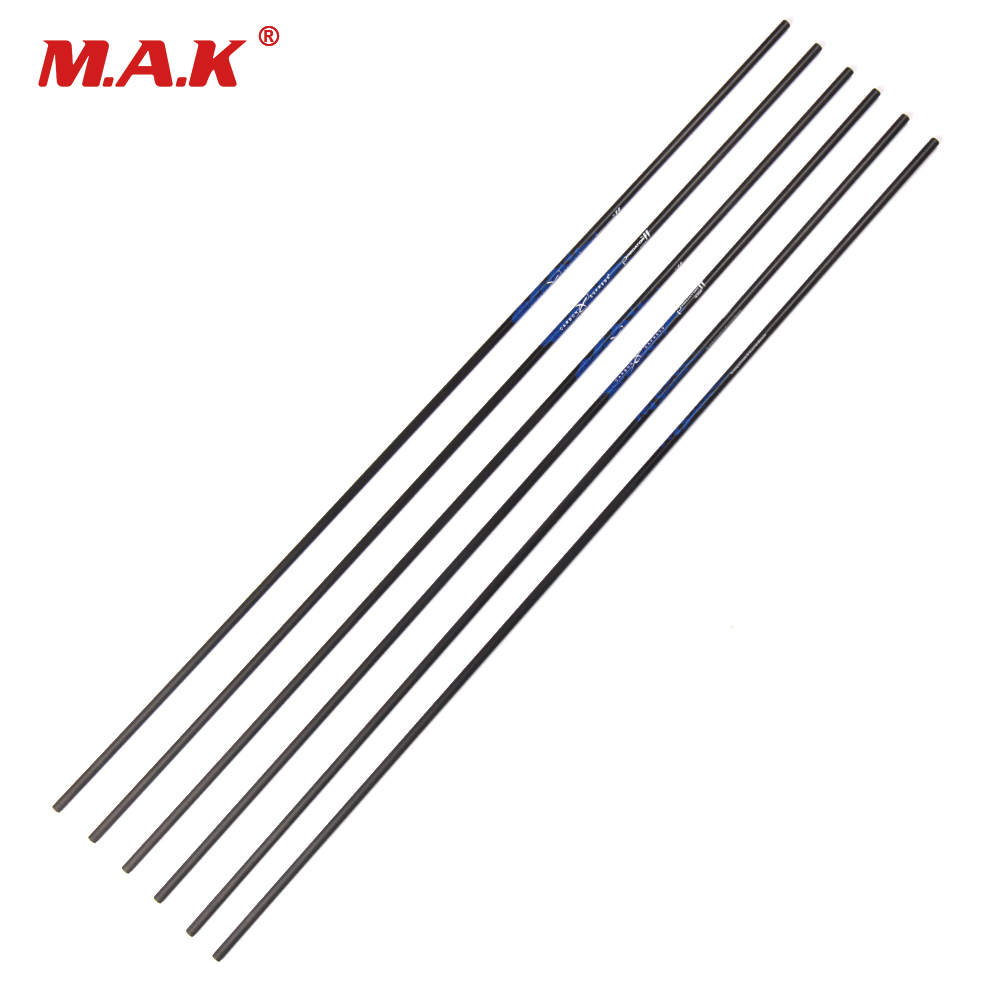 6/12 pcs Pure Carbon Arrow Shaft Length 32 Inches Spine 340 Outer Diameter 7.6 mm for Archery Hunting Shooting suunto arrow 6