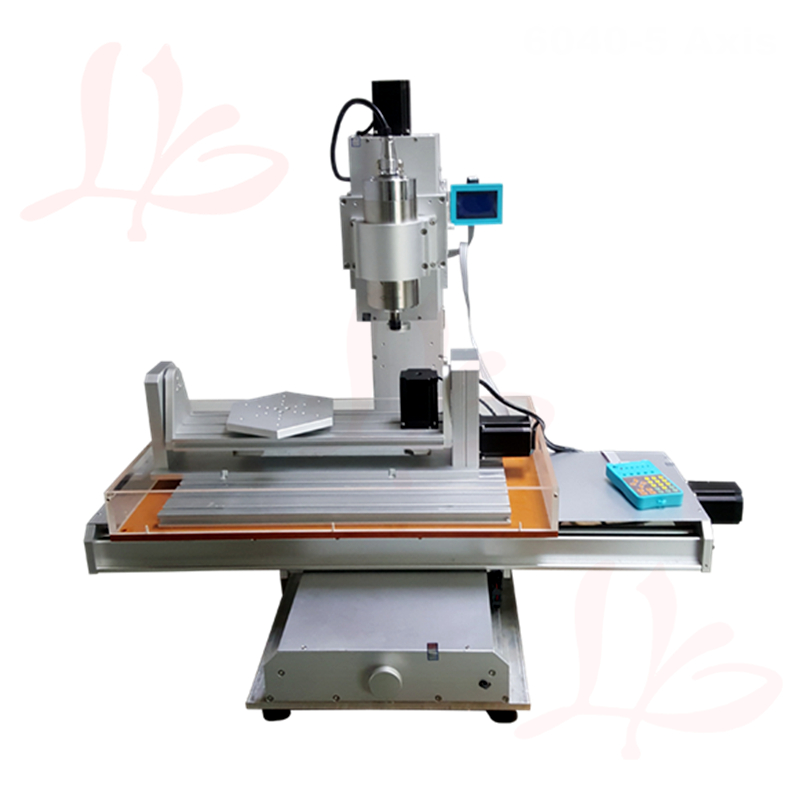 5 axis 2200W spindle cnc milling machine 6040 high performance PCB router engraving with cutter ER20 collet clamp vise