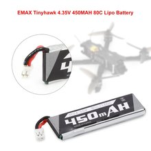 1/2Pcs Tinyhawk 4.35V 450MAH 80C Lipo Battery Rechargeable for RC Racing Drone Toy Boys Gift Fast Charging Spare Part