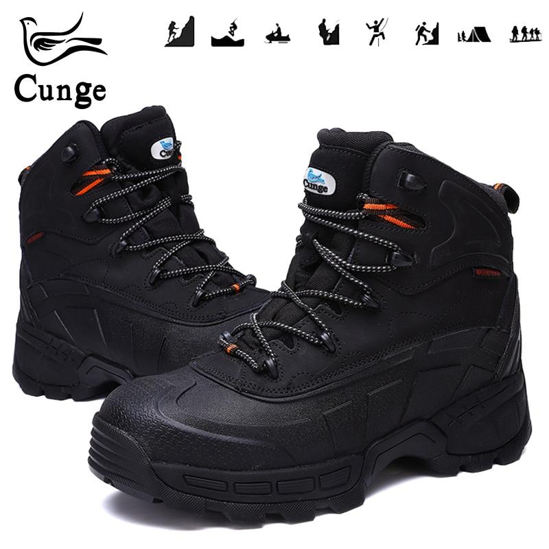 Homme Chaussures De Sécurité pour Embout D'acier de Randonnée Bottes Hommes Étanche Travail Bottes De Protection Anti-Collision Chaussures de Chasse avec feuille de fer