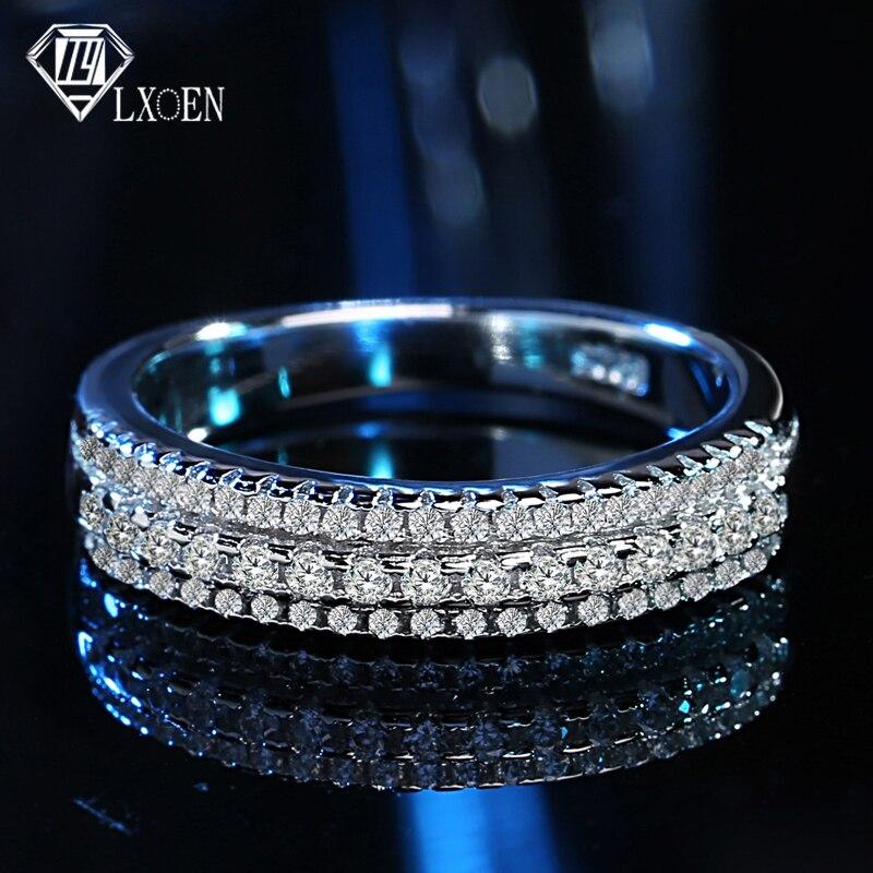 Lxoen Exquisite Inlay Druzy Runde Zirkonia Verlobungs Ring Mit Weiß Gold Farbe Ringe Für Frauen Partei Schmuck Zubehör Anel Verlobungsringe