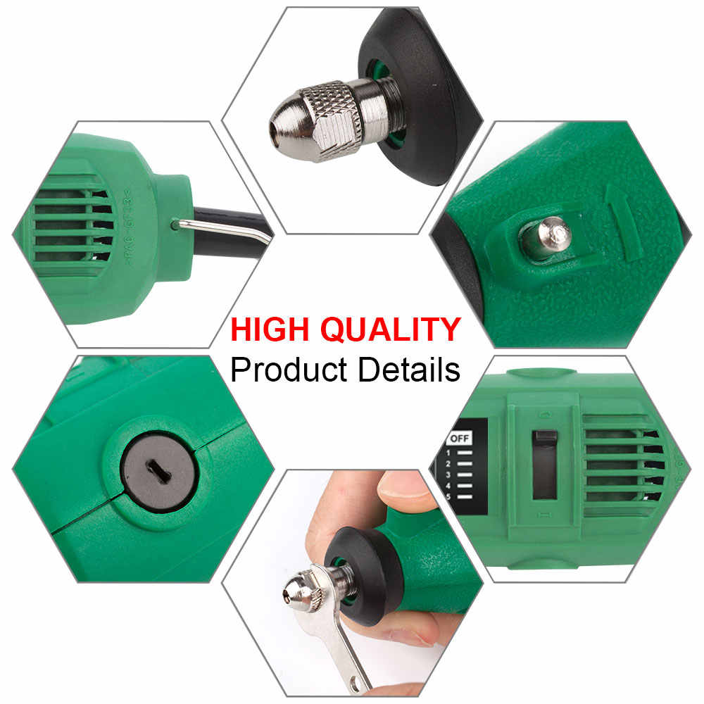 أدوات حفر كهربائية دريميل صغيرة مع ملحقات عمود مرن لقمة مثقاب أدوات كهربائية قوة الحفر للحفر