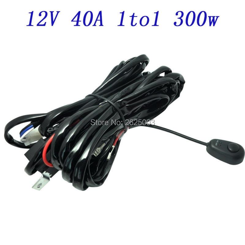 wire harness led light bar work light universal relay harness wire rh aliexpress com