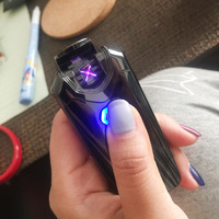 מצית סיגריות אלקטרונית נטענת USB החדש רעם קשת כפולה פלזמה Palse דופק Windproof גאדג 'טים לגברים מתנה