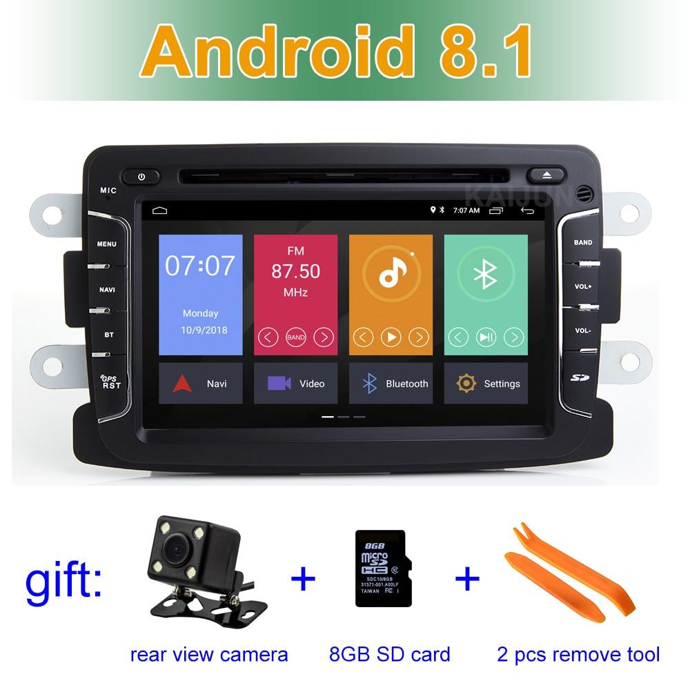 IPS écran Android 8.1 Voiture Lecteur DVD Radio pour Dacia Sandero Duster Renault Captur Lada Xray Logan 2 avec wifi BT Stéréo GPS