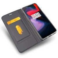 Funda de cuero de lujo para Oneplus 5t 6T 7 Pro 6gb 8gb Flip a prueba de golpes cartera teléfono funda en One Plus 5 funda magnética Folio Capa