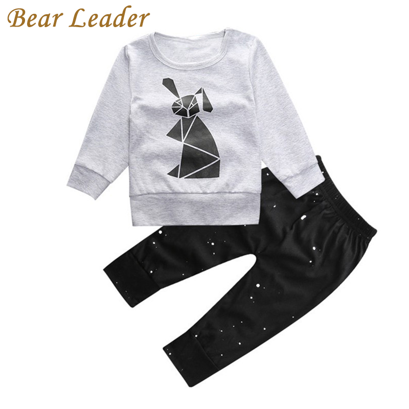Bear Leader Baby Boys Clothing Sets Autumn Baby Clothes Rabbit Printing T-shirt+pants Baby clothing set Long Sleeve Baby Set boys clothes brand 2017 autumn boys gentleman set baby boys striped long sleeve shirt denim long overalls pants 2pcs sets 4