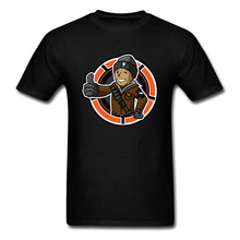 Slim Fit Mens Tshirt Fallout 4 76 T-shirt Casual Division Boy T Shirt On Sale Funny Gamer Gesture Print Tees Hip Hop Guys Tops
