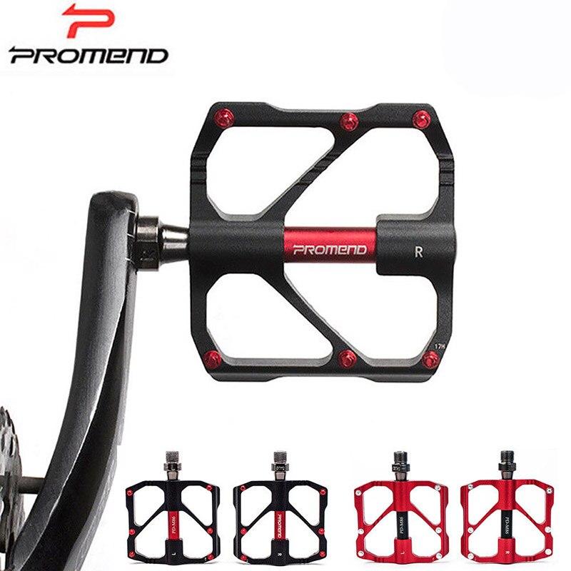 Vélo vtt vélo pédale aluminium antidérapant 3 roulement montagne cyclisme pédales rouge et noir