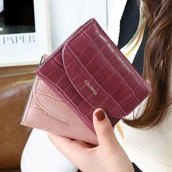 Hot Crocodile Pattern PU Leather Women Short Wallet Fashion Style Lady Girls Notecase Female Purse