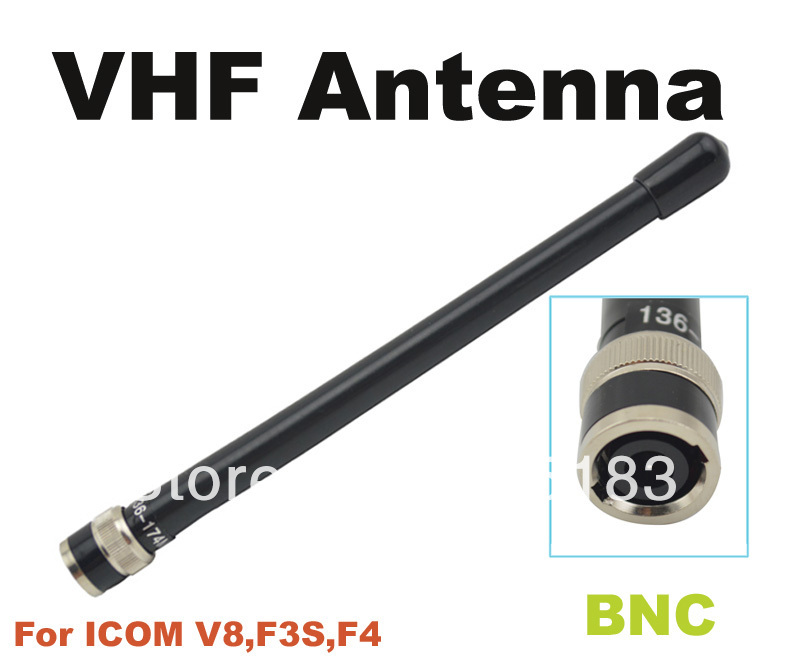 Free shipping BNC VHF Antenna for ICOM VX500 F3S <font><b>VX200</b></font> F4 IC-V8 V8 V80 V80E V82 V85 two way radio image