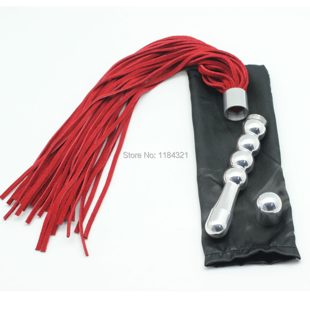 Role Play Flirting Metal Handle Leather Flogger Metal Handle Used As Anal Butt Plug, Couple Spanking Adult Sex Toys - Aliexpresscom - Imallcom-9273