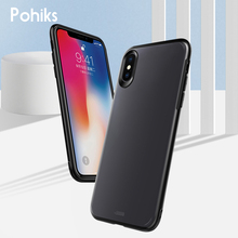 Pohiks Capa For iphone 6 6s plus 8 7 Shockproof PC+TPU Frosted Phone Case Back Cover For iPhone XS Max XR X 6 7 8 Plus Fundas new iphone case for iphone 11 for iphone11 pro max 5 8 inches 6 1 inches 6 8 inches 6 6s 7 8 plus ix xr max x fashion back cover
