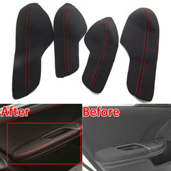 For Honda 10th Civic 16-17 PU Automobile Door Armrest Panel Surface Shell Cover Trim Waterproof Anti-scratch Styling Accessories