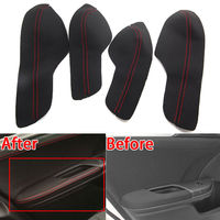 For Honda 10th Civic 16 17 4doorsPU Auto Door Armrest Panel Surface Shell Cover Trim Waterproof Anti scratch Styling Accessories