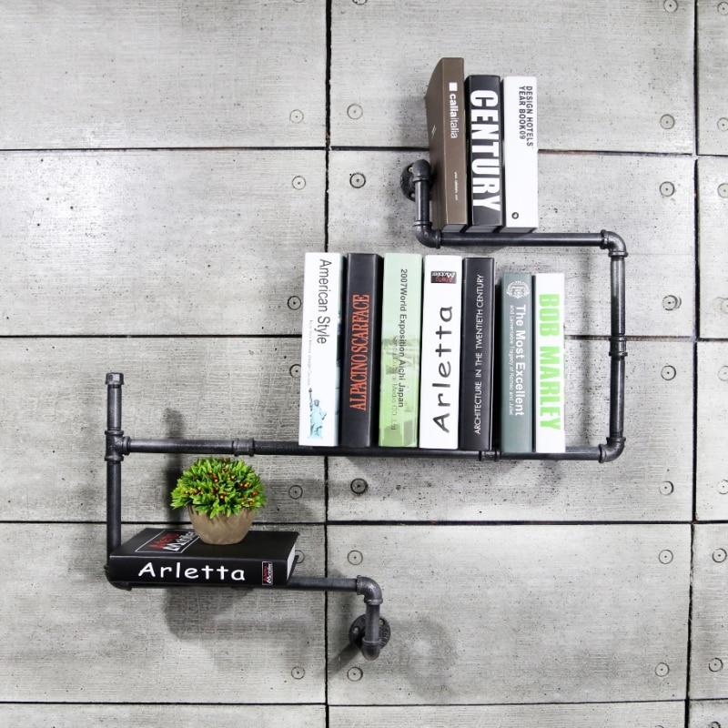 1 PC DIY Vintage Home Decor Creative Étagères De Rangement En Métal Rack Décoratif Étagère Murale Bibliothèque pour Étude/Salon chambre Z16
