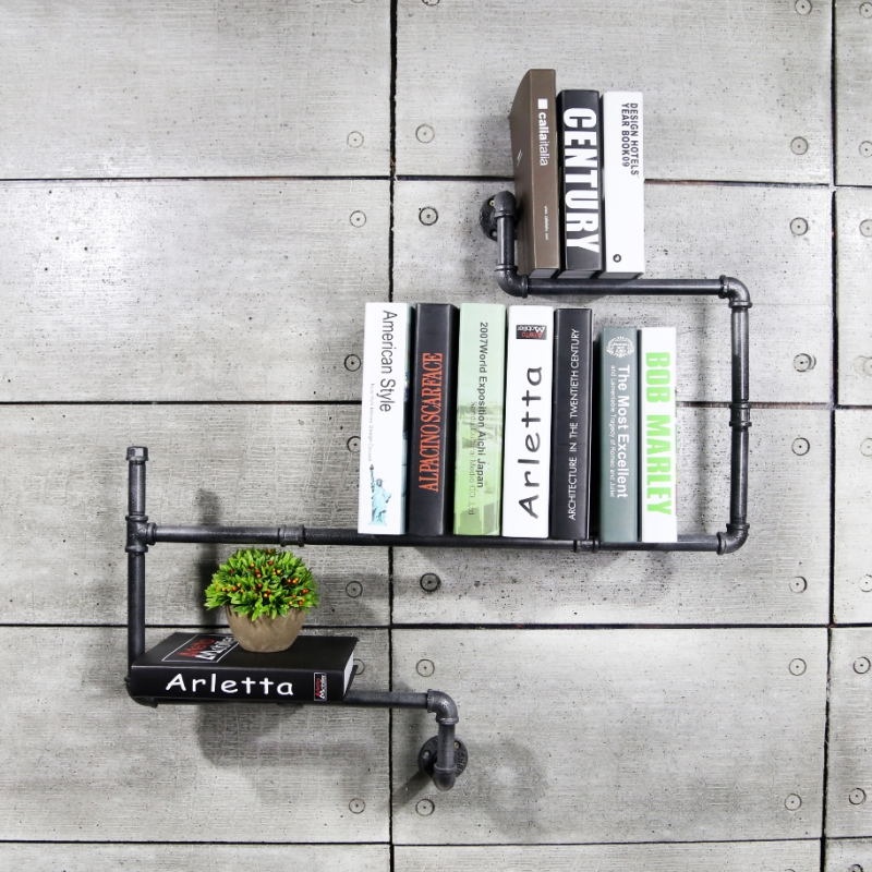 1 stück diy vintage wohnkultur kreative bücherregale metall - Möbel