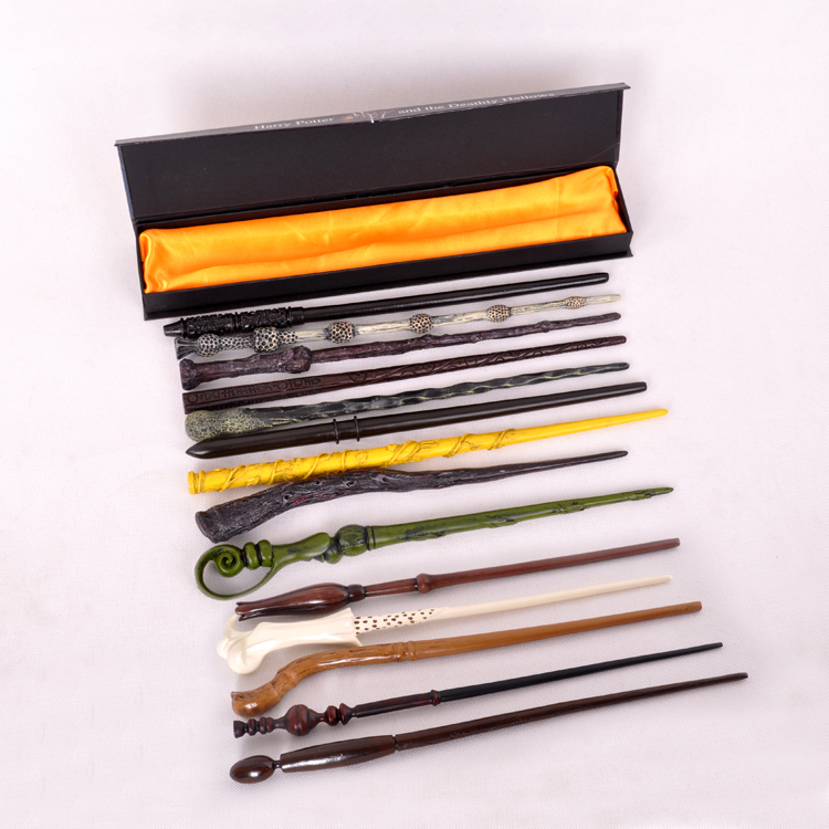 100pcs 28 styles   Deluxe Easter Dumbledore Voldermort Hermione Draco Malfoy Ron Ginny Harry Moive Magic Magical Wand Wizard-in Magic Tricks from Toys & Hobbies    1