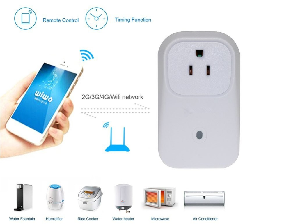 WIFI Smart Plug Socket WiFi Smart Switch Travel Plug Socket Home Automation App Remote Network For Iphone Android Smartphone