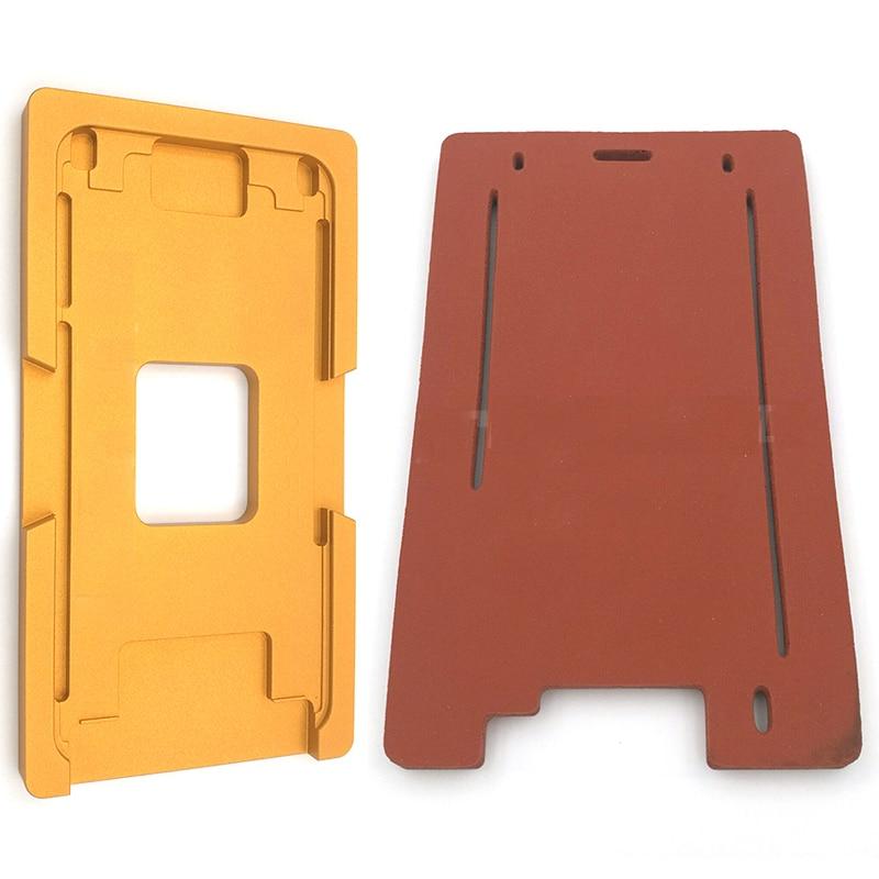 1 set OCA machine à plastifier de silice gel pad tapis de joint et avant verre avec cadre moule pour iphone 5 5S/6 6 S/6 6 s plus/7/7 plus