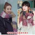 Nova Enrole Scarf Misturas de Lã Macia Multicolor Lenços Quentes Longas Grandes Borlas Xaile Mulheres Acessórios de Moda