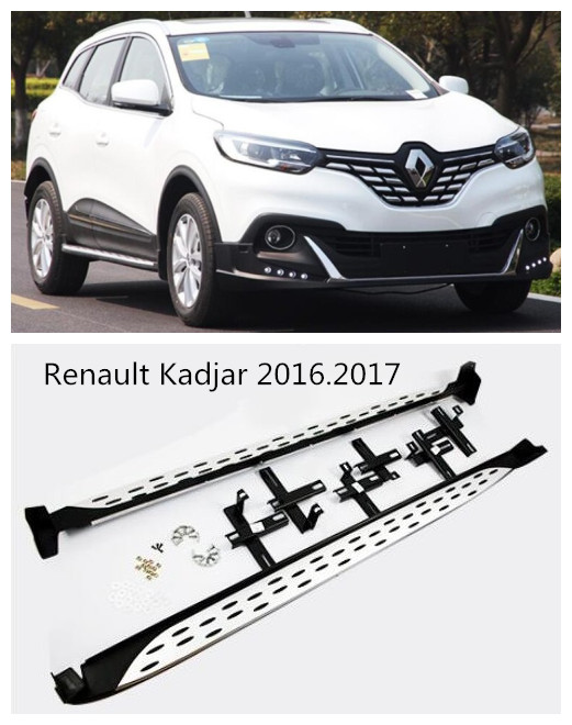 For Renault Kadjar 2016.2017 Car Running Boards Auto Side Step Bar Pedals HIGH QUALITY Brand New Original Design Nerf Bars