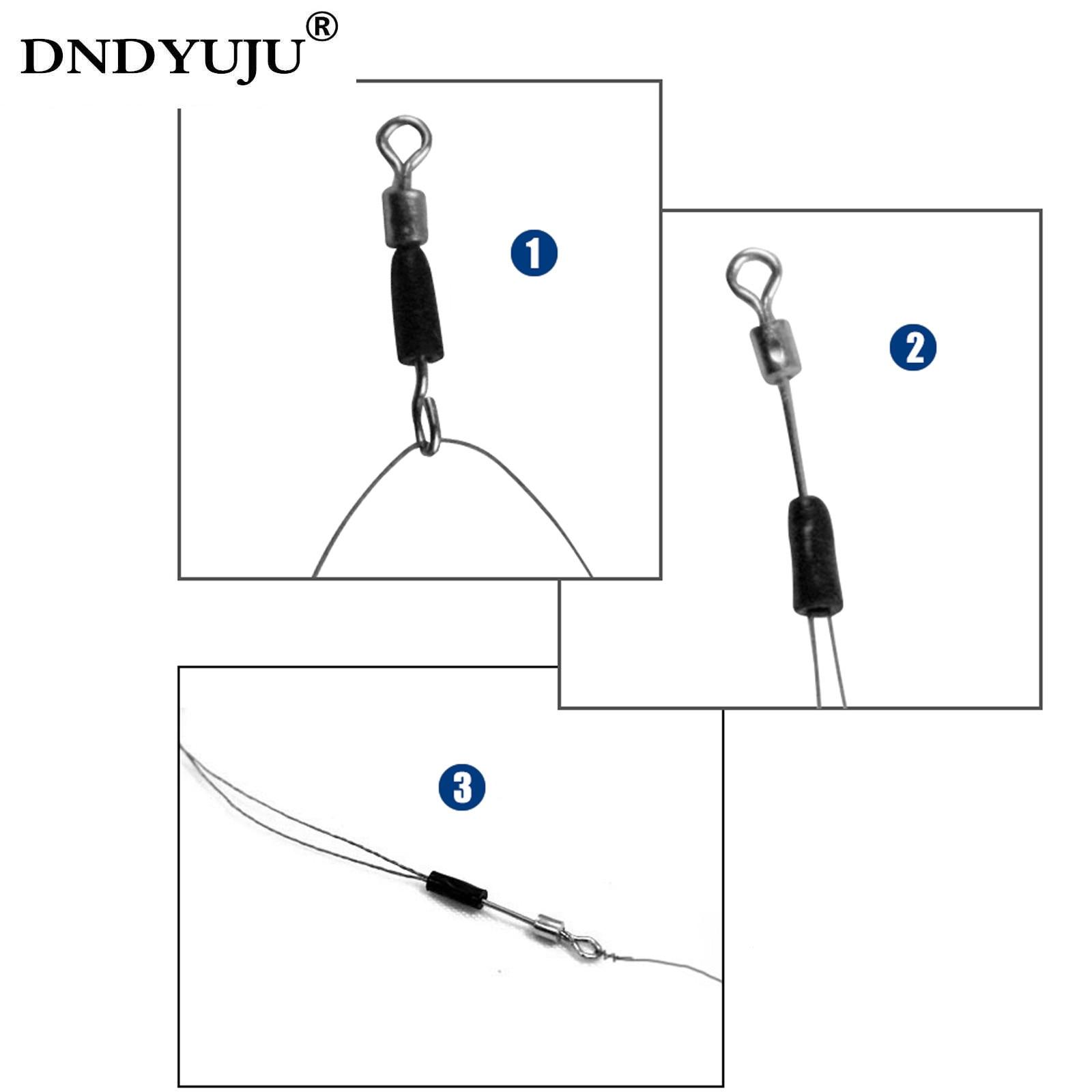 DNDYUJU 50 шт., шарикоподшипники, поворотные Прочные Кольца, рыболовные коннекторы, крючки, быстрая связь
