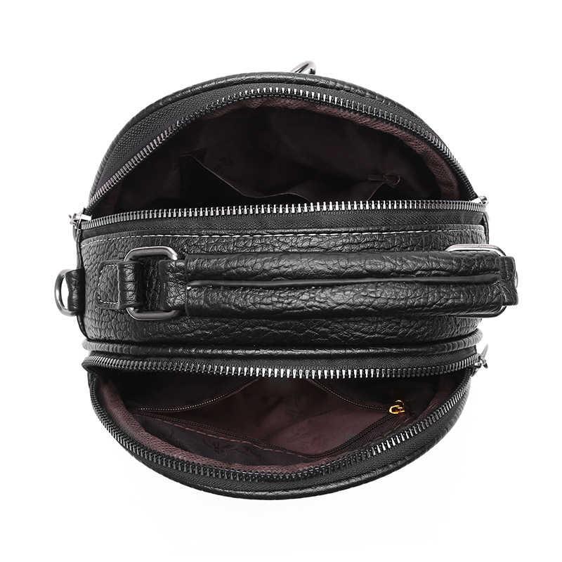 Bolsa de couro pu feminina, de alta qualidade, feita em couro sintético, tipo carteiro, de ombro, vintage, bolsa de gatinho, ornamentos