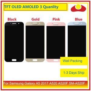 Image 1 - 10 יח\חבילה מקורי לסמסונג גלקסי A5 2017 A520 A520F LCD תצוגה עם מסך מגע Digitizer פנל צג הרכבה מלאה
