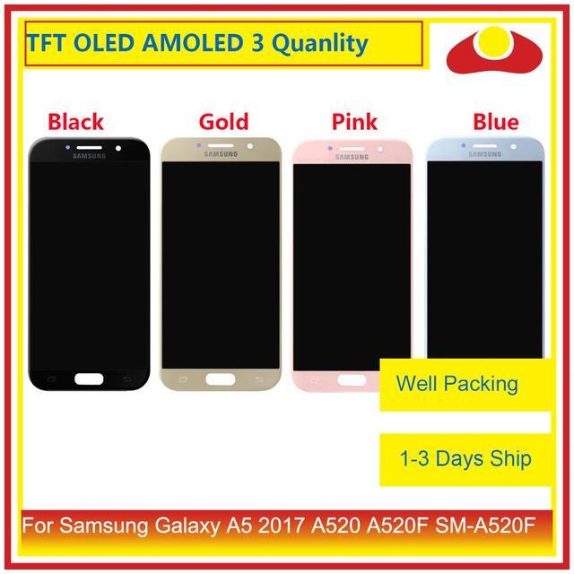 10 יח\חבילה מקורי לסמסונג גלקסי A5 2017 A520 A520F LCD תצוגה עם מסך מגע Digitizer פנל צג הרכבה מלאה