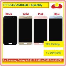 10 pz/lotto Originale Per Samsung Galaxy A5 2017 A520 A520F Display LCD Con Touch Screen Digitizer Pannello di Montaggio Monitor Completo