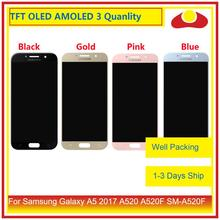 10Pcs/lot Original For Samsung Galaxy A5 2017 A520 A520F LCD Display With Touch Screen Digitizer Panel Monitor Assembly Complete