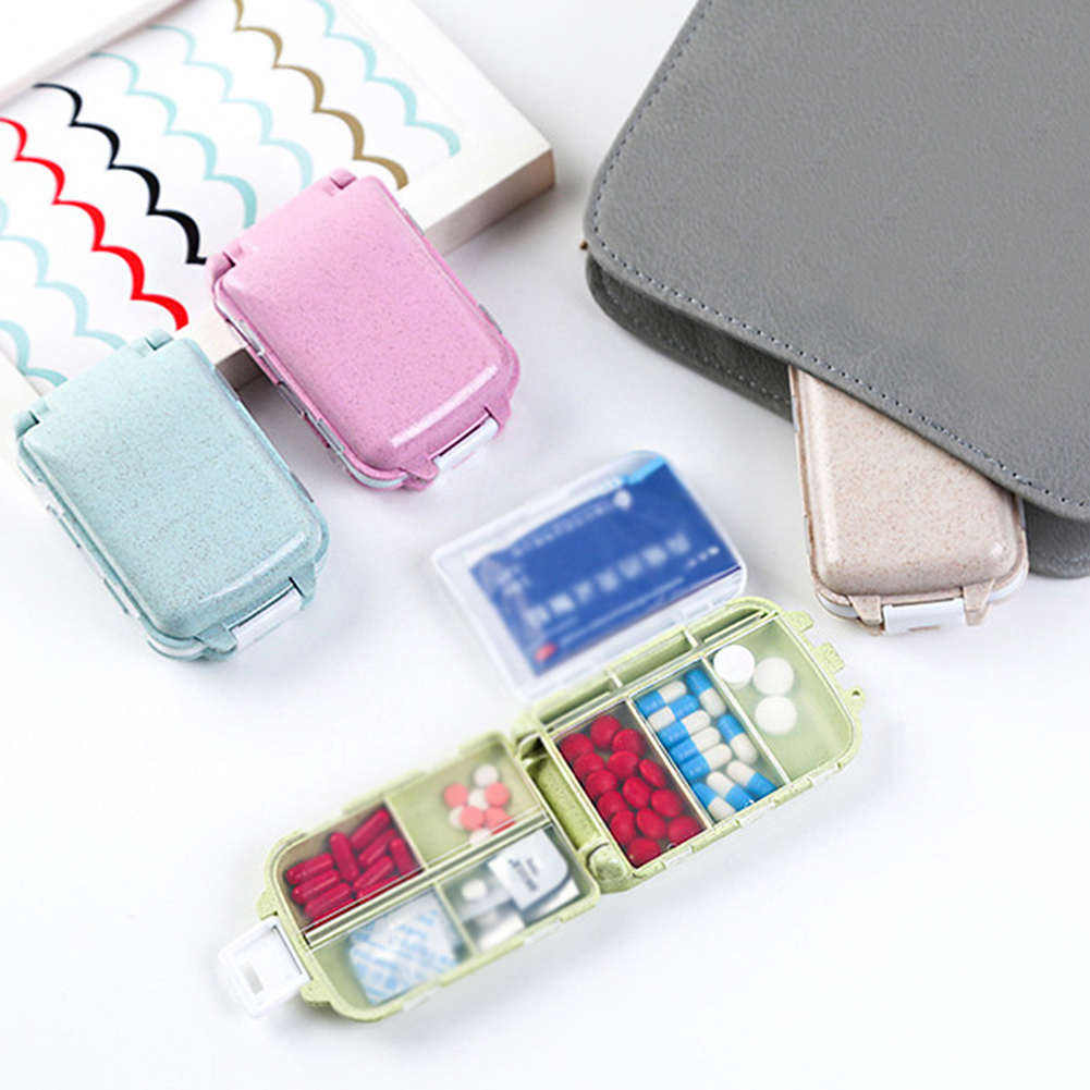 Portable Multifunction Drug Packing Creative Travel Accessories Unisex Packing Organizers Security Portable Microfiber Pill Box
