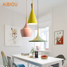AIBIOU New Arrival LED Pendant Lights For Dining Colorful Lamp E27 Bar Light Kitchen Hanging Lighting Fixtures