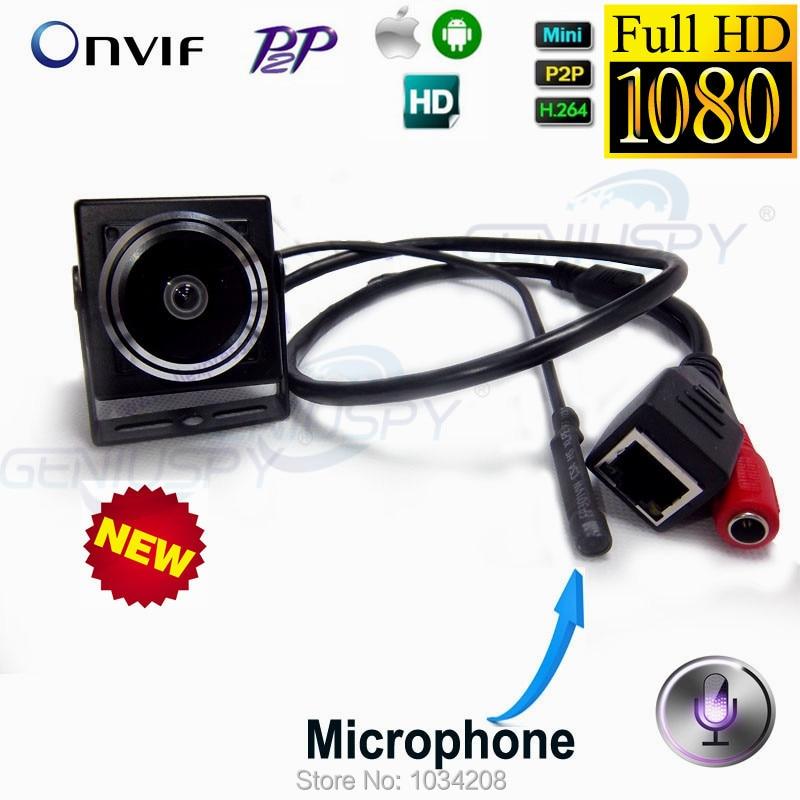 2Mp 1080 P Ip-kamera Hd 1,78mm Fisheye-objektiv 180 Grad Mini Ip Cam Verdeckte Netzwerk Onvif P2P Miniatur Ip-kamera Weitwinkel Onvif