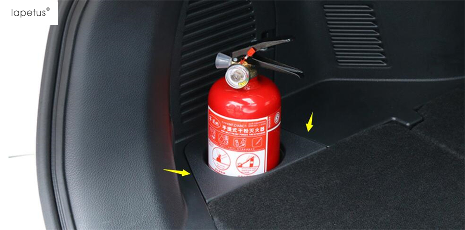Accessories For Nissan X-Trail X Trail T32 Rogue 5 Seat Model 2017 2018 Fire Extinguisher Cup Holder Case Cover Kit Trim 1 Piece
