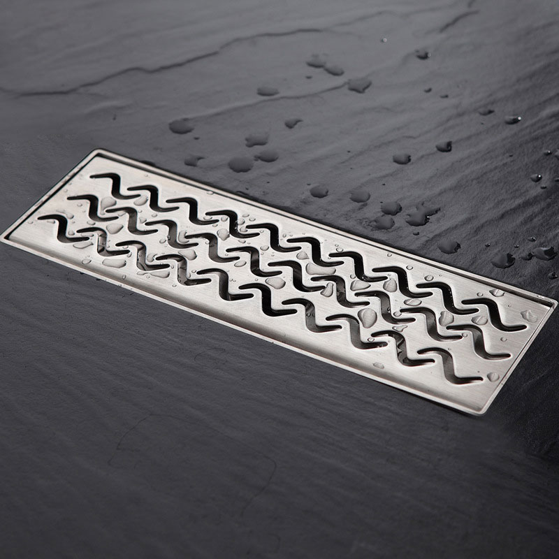 Steel floor drain 30 * 10 cm straight side row toilet bathroom water seal the balcony floor drain dive deep deodorization type