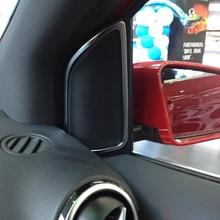 b260 カーアクセサリークロームドアスピーカーフレーム装飾トリムステッカー用メルセデスベンツbクラスb200 2012-2016車スタイリング