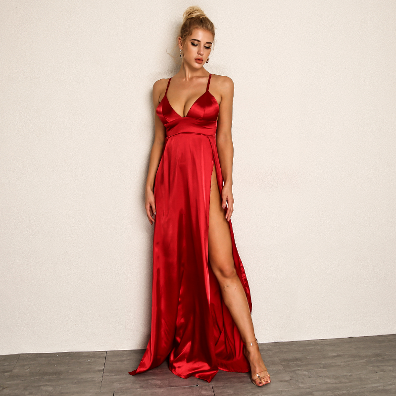 1d7d6a294ddf5 High Split Sexy Red Maxi Dresses