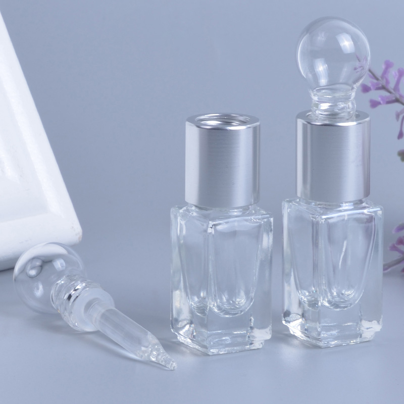 MUB - Refillable Mini Glass Bottle Refillable Essential Oils 3ml High Quality Dropper Perfume Bottles With Plastic Funnel mub 12ml mini cute glass portable perfume bottle with roll on