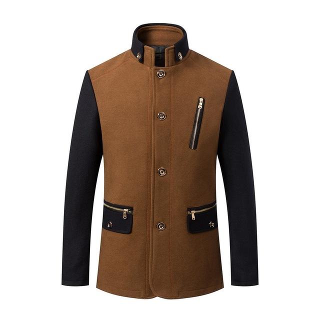 2016 Men's Wool Jackets WINTER Autumn Brand Men Woolen Coats male Jackets And Coats Mens Warm Wool Overcoat Size M-3XL