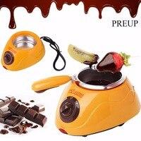 PREUP Hot Chocolate Melting Pot Electric Fondue Melter Machine Set DIY Tool Durable